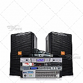 Small Commercial live performance sound system-D